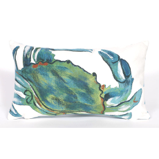Blue Crab Sea Indoor Outdoor Oblong Pillow