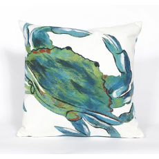 Blue Crab Sea Indoor Outdoor Pillow