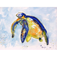 Blue Sea Turtle Door Mat