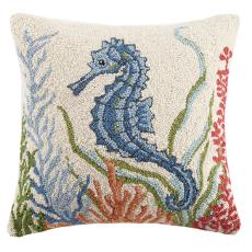 Blue Seahorse Hook Pillow