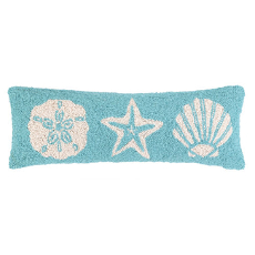 Blue Seashell Elongated Hook Pillow