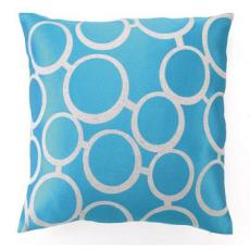 Blue Spectacles Embroidered Pillow