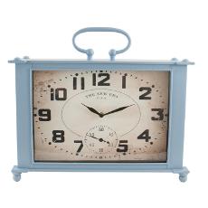 Blue Square Metal Clock
