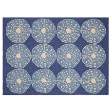 Blue Urchins Hook Rug
