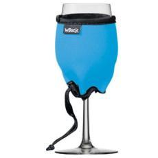 Blue Neoprene Wine Glass Koozie