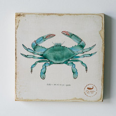Blue Crab Lithograph Art