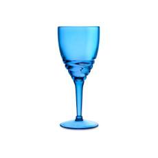 Swirl Acrylic Wine Glasses - Blue set of 6