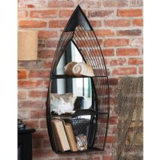 Metal Boat Mirror with Shelves