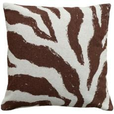 Zebra Brown Linen Pillow
