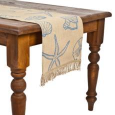 Blue Seashell Table Runner