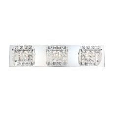 Crown 3 Light Vanity In Chrome And Clear Crystal Glass