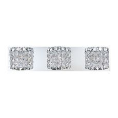 Rondell 3 Light Vanity In Chrome And Clear Crystal Glass