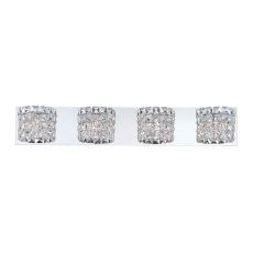 Rondell 4 Light Vanity In Chrome And Clear Crystal Glass