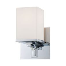 Ramp 1 Light Vanity In Chrome And White Opal Glass