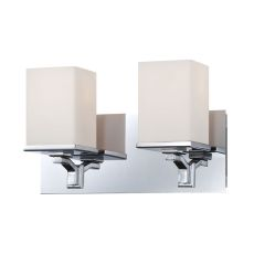 Ramp 2 Light Vanity In Chrome And White Opal Glass