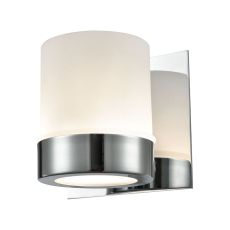 Mulholland 1 Light Vanity In Chrome And Opal Glass