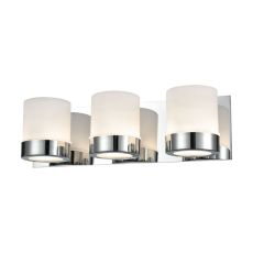 Mulholland 3 Light Vanity In Chrome And Opal Glass
