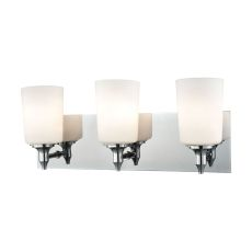 Alton Road 3 Light Vanity In Chrome And Opal Glass
