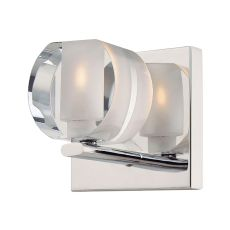 Circo 1 Light Vanity In Chrome And Polished Clear Glass