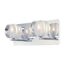 Circo 2 Light Vanity In Chrome And Polished Clear Glass