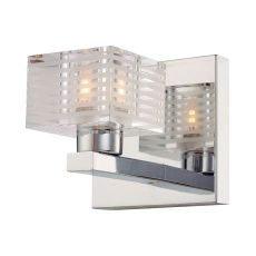 Quatra 1 Light Vanity In Chrome And Clear Glass
