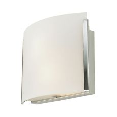Pannelli Arc 2 Light Sconce In Chrome And White Opal Glass
