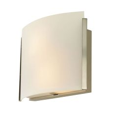 Pannelli Arc 2 Light Sconce In Satin Nickel And White Opal Glass