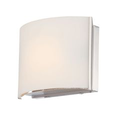 Pandora 1 Light Vanity In Chrome And White Opal Glass