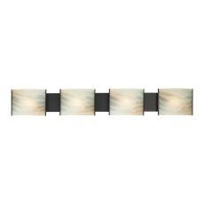 Pannelli 4 Light Vanity In Oil Rubbed Bronze And Hand-Moulded Honey Alabaster Glass