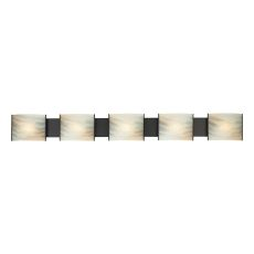 Pannelli 5 Light Vanity In Oil Rubbed Bronze And Hand-Moulded Honey Alabaster Glass