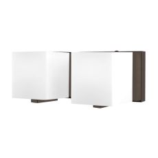 Borg 2 Light Vanity In Oil Rubbed Bronze And White Opal Glass