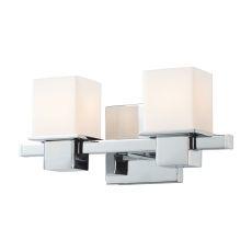 Lexington 2 Light Vanity In Chrome And White Opal Glass