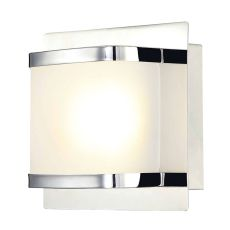 Bandeaux 1 Light Led Vanity In Chrome And Opal Glass
