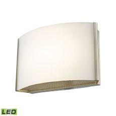 Pandora Led 1 Light Led Vanity In Satin Nickel And Opal Glass