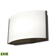 Pandora Led 1 Light Led Vanity In Oiled Bronze And Opal Glass