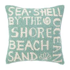 Green Beach Paradise Script Pillow
