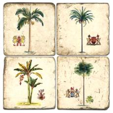Tropical Tree Coasters S/4