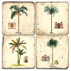 Tropical Tree Coasters S/4