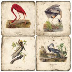 Audubon Birds Coasters, set of 4