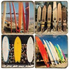 Surf Board Marble Coasters S4