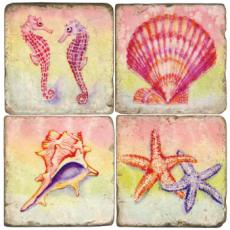 Beach Coasters, set of 4