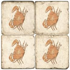 Crab marble coasters S4