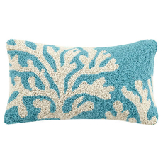 Calm Coral Hook Pillow