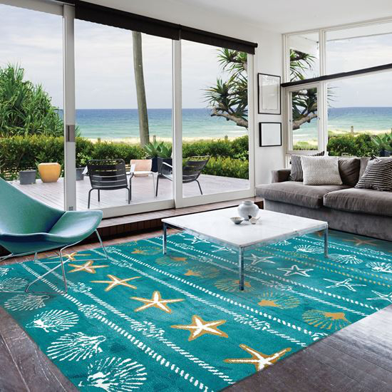 Calm Seas Indoor Rug  5 x 7 Ft