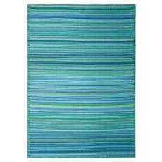 Cancun - Turquoise & Moss Green Indoor/ Outdoor Rug