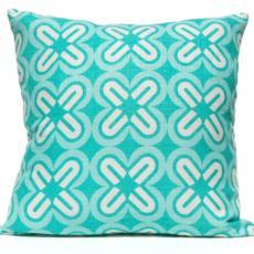 C'S & X'S Pillow - Aqua