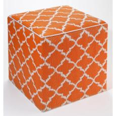 Tangier - Carrot & White Cube/Ottoman