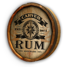 Carver Rum Quarter Barrel Wall Sign Personalized