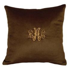 Cashmere Brown Pillow Personalized Brown