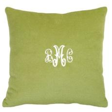 Cashmere Green Pillow Personalized